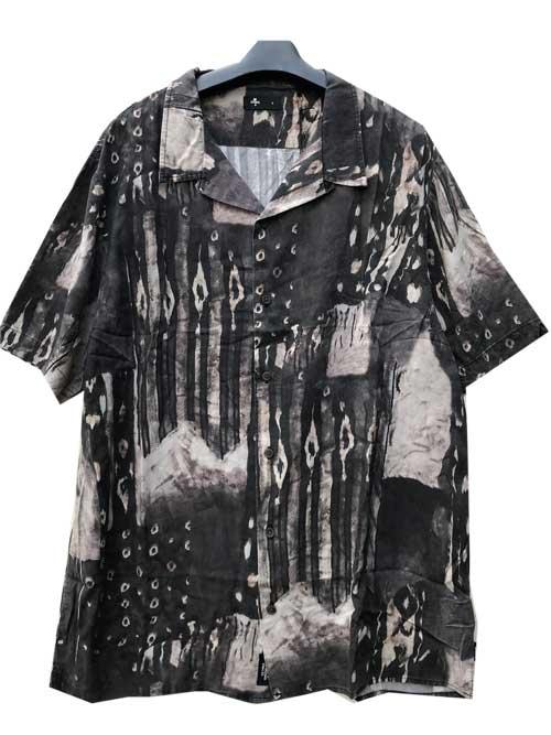 THRILLSスリルズSmear Bowling 半袖シャツ black渋めの柄