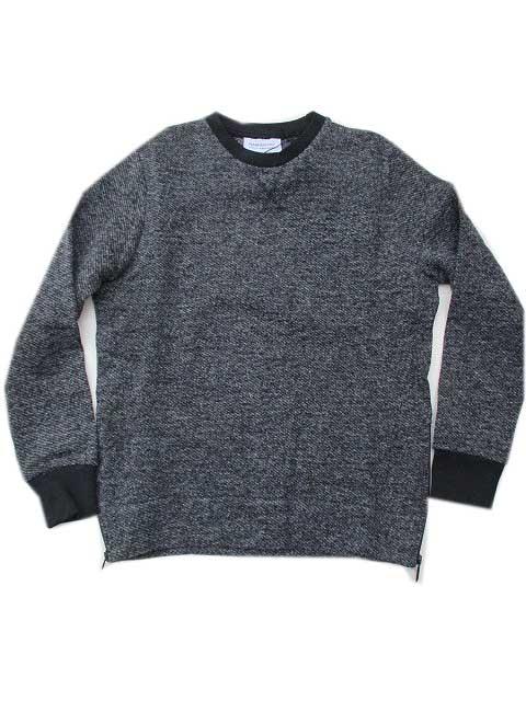 HAMAKI-HOハマキホサイドジップクルーニット grey