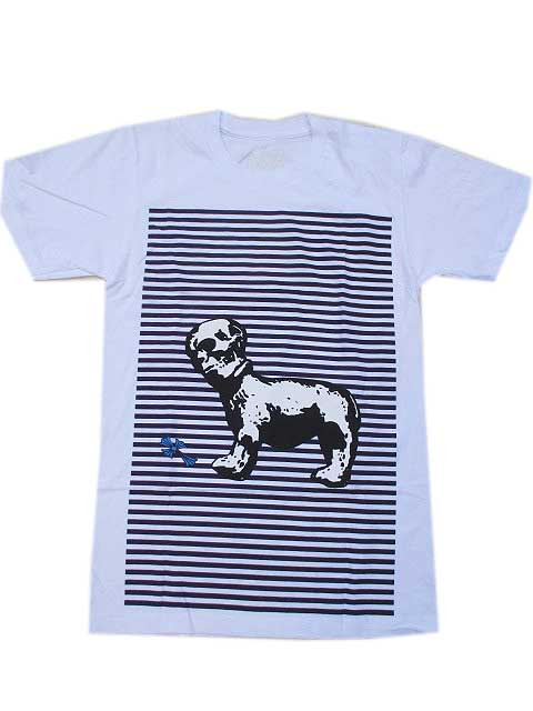 CHROME HEARTSクロムハーツフォティ スカル ボーダーTシャツ white/purple Lサイズのみになりました。