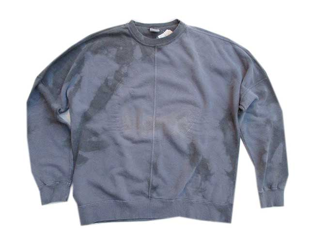 55DSL FERRARO Sweatムラ染めスェットCharcoal/922]