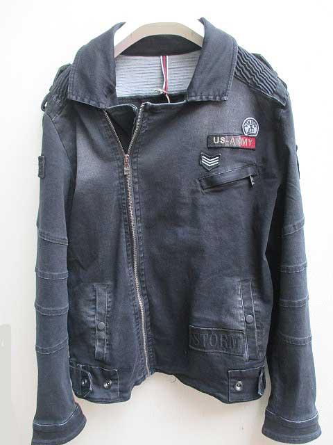 ファッションデザイナー RON TOMSONロントムソン Motorcycle Jacket Patchwork Motorcycle black Jacket black:AMERICAN DREAM, Link Support:ece66746 --- nagari.or.id