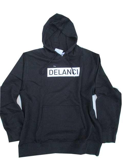 DELANCIデランシーロゴパーカー black