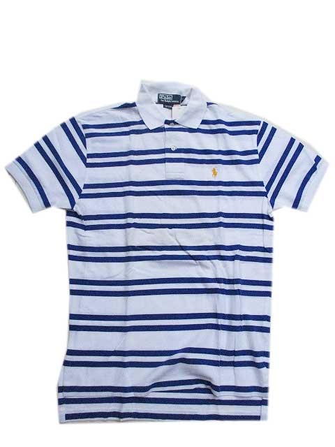 "Polo Ralph Laurenボーダーポロシャツ ""かのこ""[white/blue]"