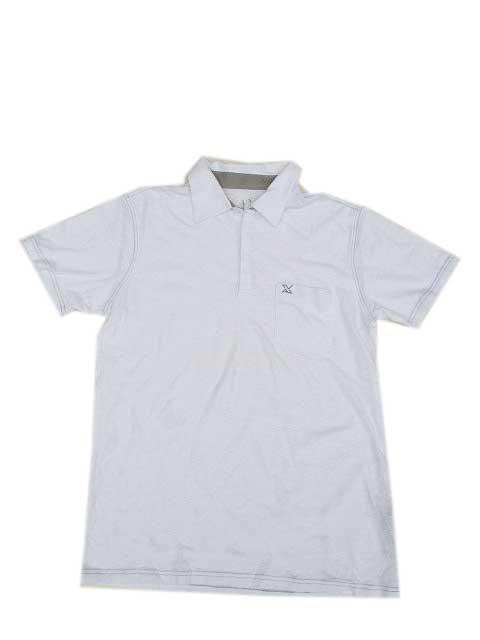 A/Xアルマーニエクスチェンジスラブコットンポロシャツ white