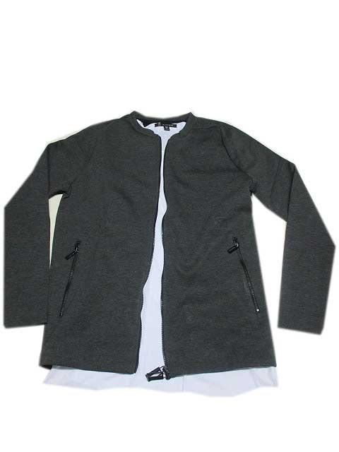 HAMAKI-HO/ハマキホジップジャケット 襟なし grey