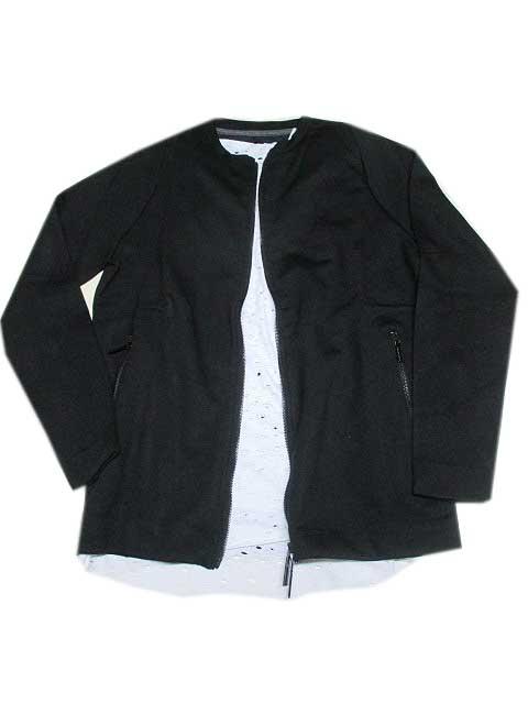HAMAKI-HO/ハマキホジップジャケット 襟なし black