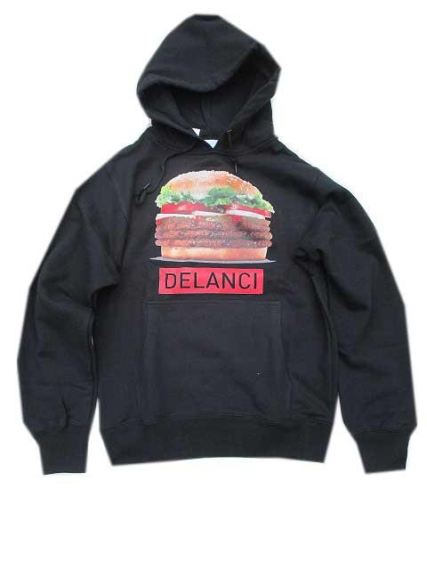 DELANCIデランシーFAT BURN HOODIE BLACK