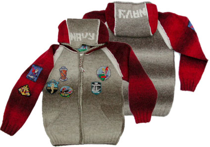 FRANTIC frantic Zip Hood sweater [Lt.Grey/Red]