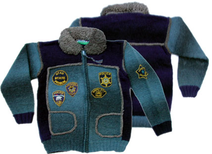 FRANTIC フランティック ジップボアセーター[Navy/Blue]