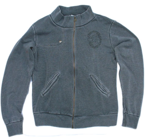 MORPHINE GENERATION /モーフィンゼネレーション TRACKTOP ZIP SWEAT -PEACE- [Grey]