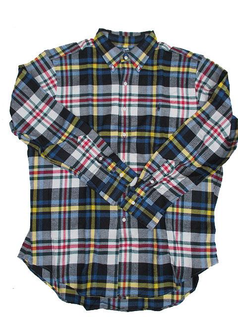 POLO RALPH LAUREN/ラルフローレンボタンダウンフランネルチェックシャツ royal