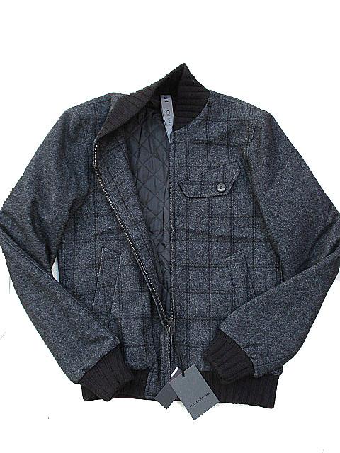 HAMAKI-HOハマキホチェックウールジャケット grey