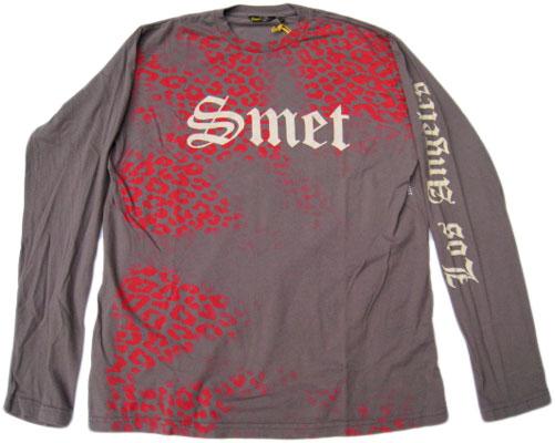 SMET Men's L/S Tee ¨Flag Skull¨ [GREY]スメット ロサンゼルス