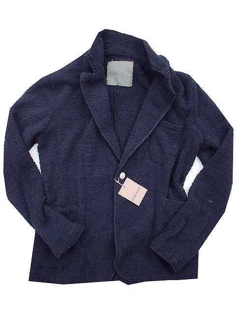 RUBVALLEYラヴァレー GREAT POODLE SHAGGY JACKET SOLID / シャギー ジャケット navy