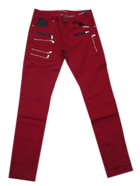 RON TOMSONロントムソンMulti Zipper Moto Jeans red