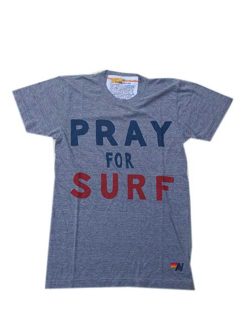 AVIATOR NATIONアビエーターネーションPRAY FOR SURF Tシャツ - HEATHER GREY