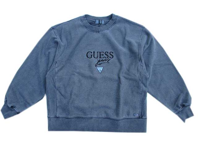 GUESS GREEN LABELゲスグリ-ンレーベルPIGMENT GUESS JEANS スェット blue black