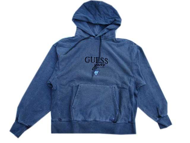GUESS GREEN LABELゲスグリ-ンレーベルPIGMENT GUESS JEANS パーカー blue black