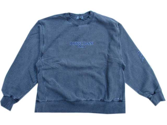 GUESS GREEN LABELゲスグリ-ンレーベルPIGMENT GUESS JEANS USA スェット blue black