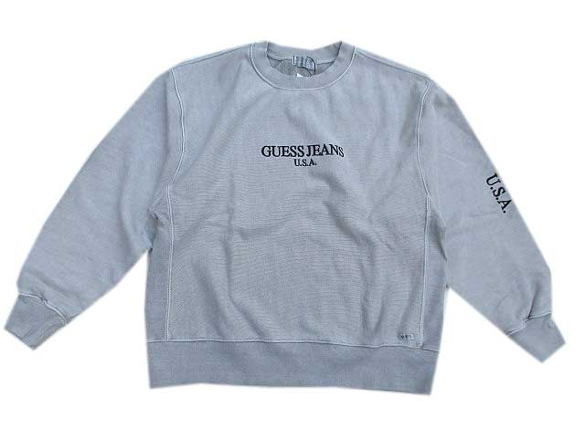 GUESS GREEN LABELゲスグリ-ンレーベルPIGMENT GUESS JEANS USA スェット l.grey