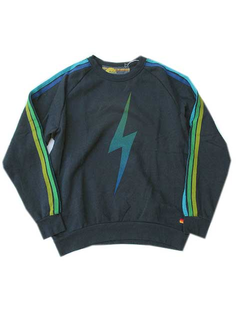 AVIATOR NATIONアビエーターネーションBOLT FADE SWEATSHIRT CHARCOAL