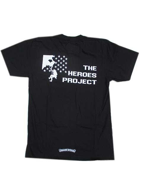 CHROME HEARTSクロムハーツヒーロープロジェクトTシャツblack Mサイズ