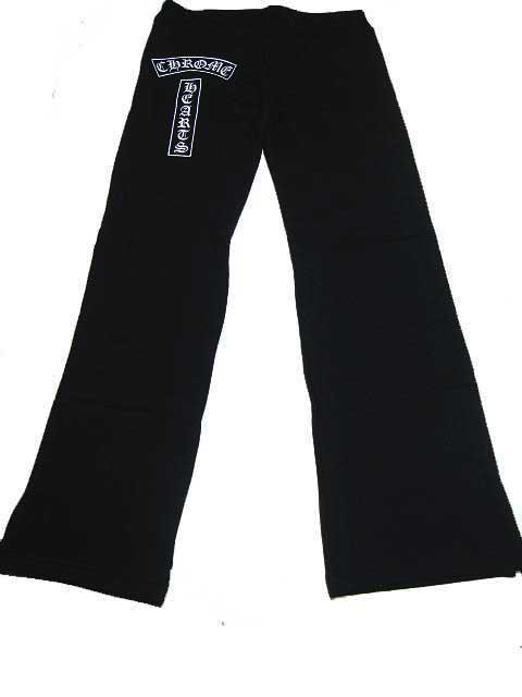 CHROME HEARTS/クロムハーツ WOMEN!S SWEAT PANTS ヒッププリント(ポケットなし) [BLACK]