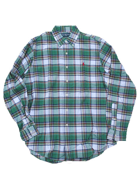 RALPH LAUREN/ラルフローレンカスタムフィットBDチェックシャツgreen