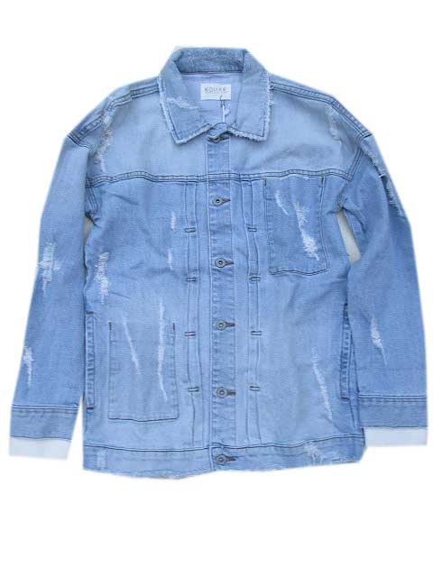 kOLLARコラーDistressed Denim JKT blue