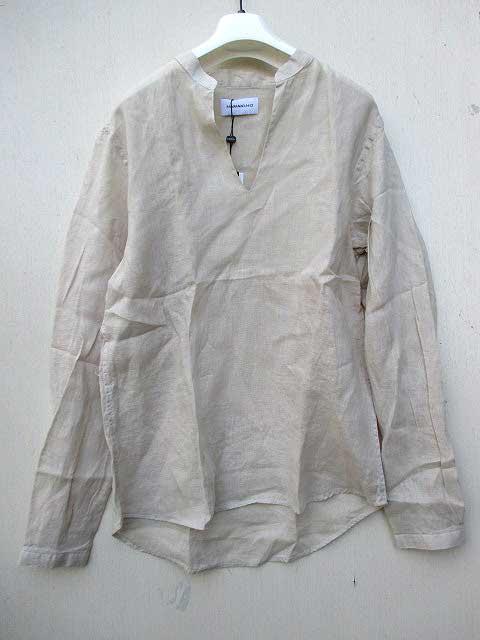 HAMAKI-HOハマキホリネンプルオーバーシャツ beige