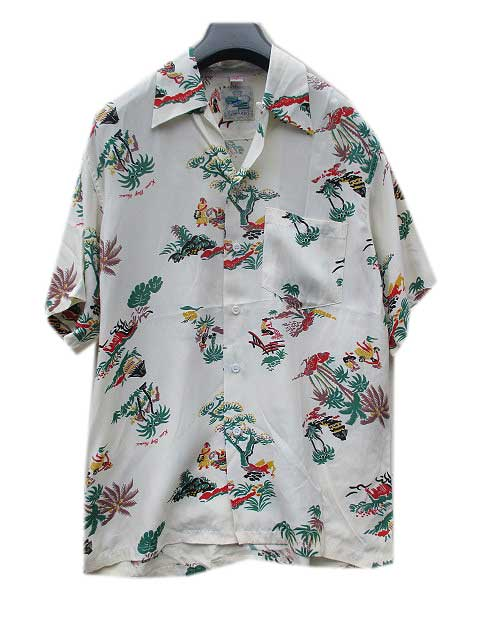 KONA BAY HAWAIIアロハシャツ white