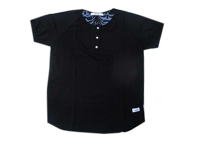 kinetixスラブコットンヘンリーネック Tシャツ black