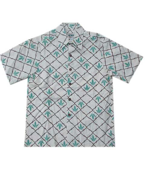IS LAND HENPアロハシャツ[A]アイランドヘンプアロハシャツ