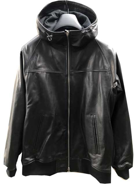 Y'2LEATHERワイツーレザーSTEER OIL HOODED PARKA black レザージャケット