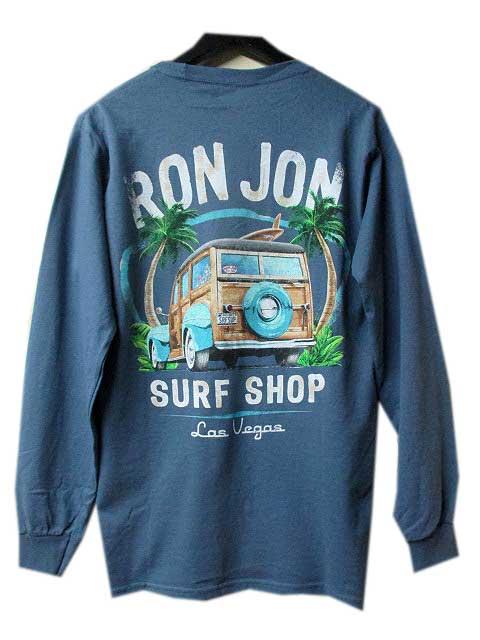 RON JONロンジョンラスベガス限定CAR ロングスリーブTシャツ blue