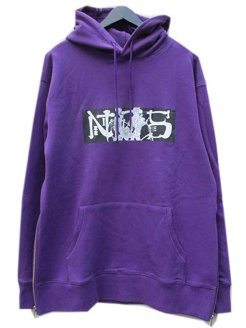 NCS NOT COMMON SENSEノットコモンセンスSKELETON SEX SIDE ZIP HOODIE purple
