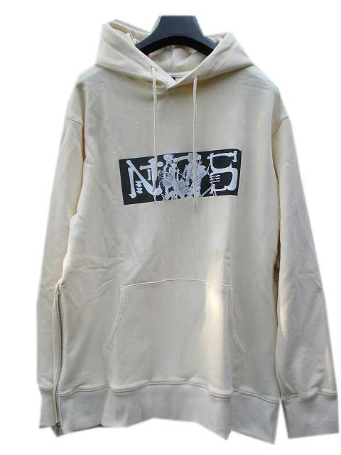 NCS NOT COMMON SENSEノットコモンセンスSKELETON SEX SIDE ZIP HOODIE beige