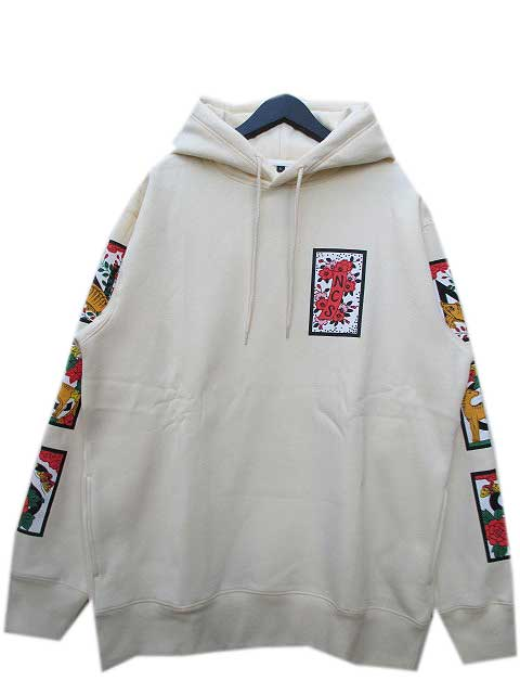 NCS NOT COMMON SENSEノットコモンセンスJAPANESE PLAYING HOODIE beige