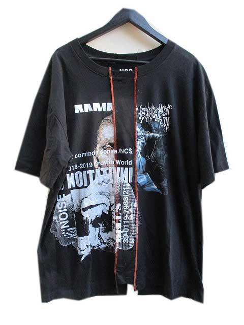NCS not common senseノットコモンセンス REMAKE Tシャツ8 black
