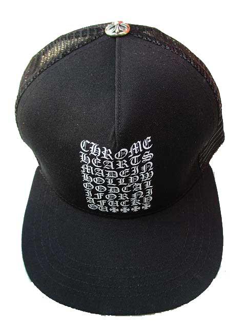 ロサンゼルスより再入荷 市販 格安 CHROME HEARTSクロムハーツメッシュキャップ made in Hollywood cap blackトラッカーキャップ