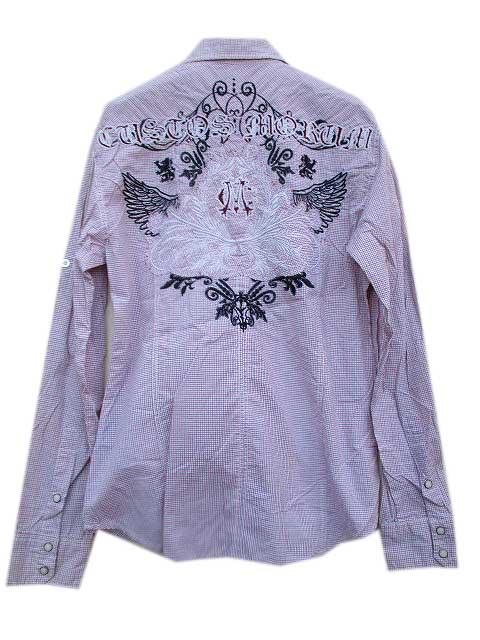 MONARCHY L/S シャツ [ギンガムチェック]バック刺繍