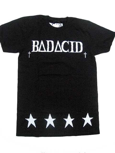 BAD ACID/バッドアシッドBA CULT Tシャツ black