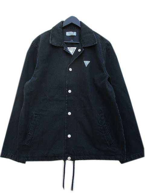 GUESS GREEN LABELゲスグリーンレーベルRIGID DENIM COACK JKT black