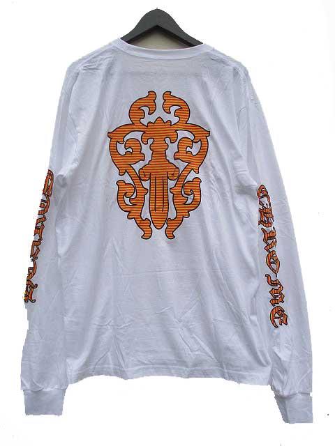 CHROME HEATRSクロムハーツストライプダガーロングスリーブTシャツ white LXLサイズ