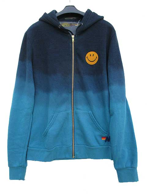 AVIATOR NATIONアビエーターネーションFaded Smiley Embroidery - Zip Hoodie