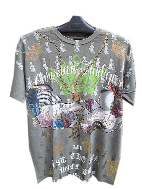 【クリスチャンオードジェー】CHRISTIAN AUDIGIER S/S TEE [khaki]半袖 Tシャツ 送料無料