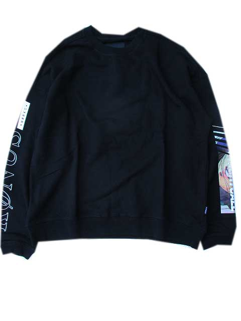 KONUS BRANDコーナスOversize Sweatshirt / Circuit black