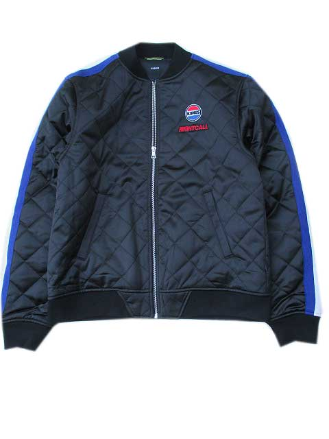 KONUS BRANDコーナスQUILTED SATIN JACKET black