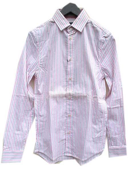 即日出荷 アルマーニエクスチェンジシャツ A 百貨店 アルマーニエクスチェンジストレッチスリムフィットストライプシャツ X
