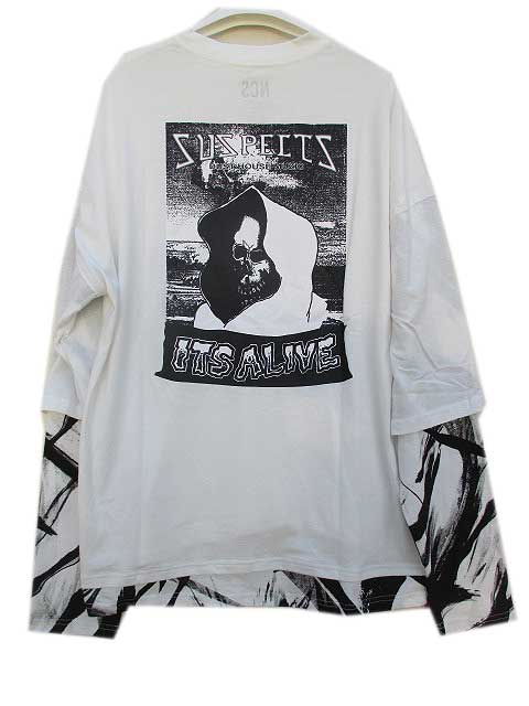 NCS NOT COMMON SENSEノットコモンセンスREMAKE LAYERD L/S TEE white